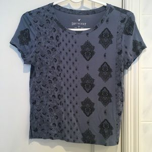Blue boho T-Shirt American Eagle